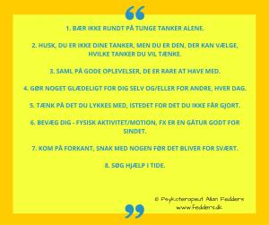 Her er 8 punkter der styrker psykisk trivsel